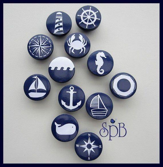 Photo of Nautical Drawer Knob, Drawer Pulls, Nautical Nursery Decor, Dresser Knobs for Kids Room