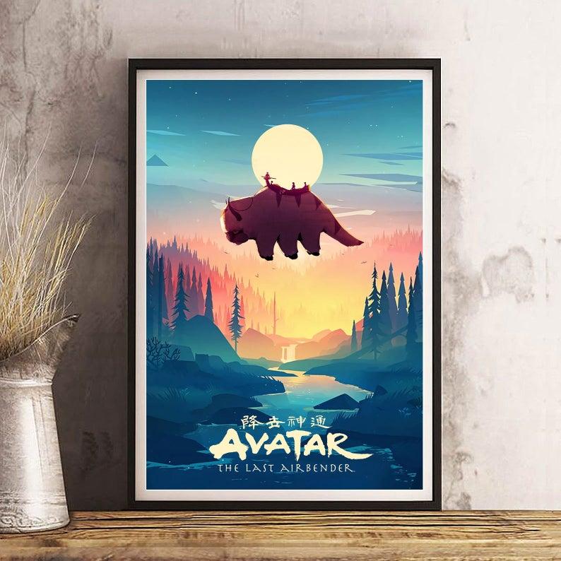 Avatar The Last Airbender Aang Art Aang Poster Atlab Fan Etsy Poster Art Avatar The Last Airbender The Last Airbender