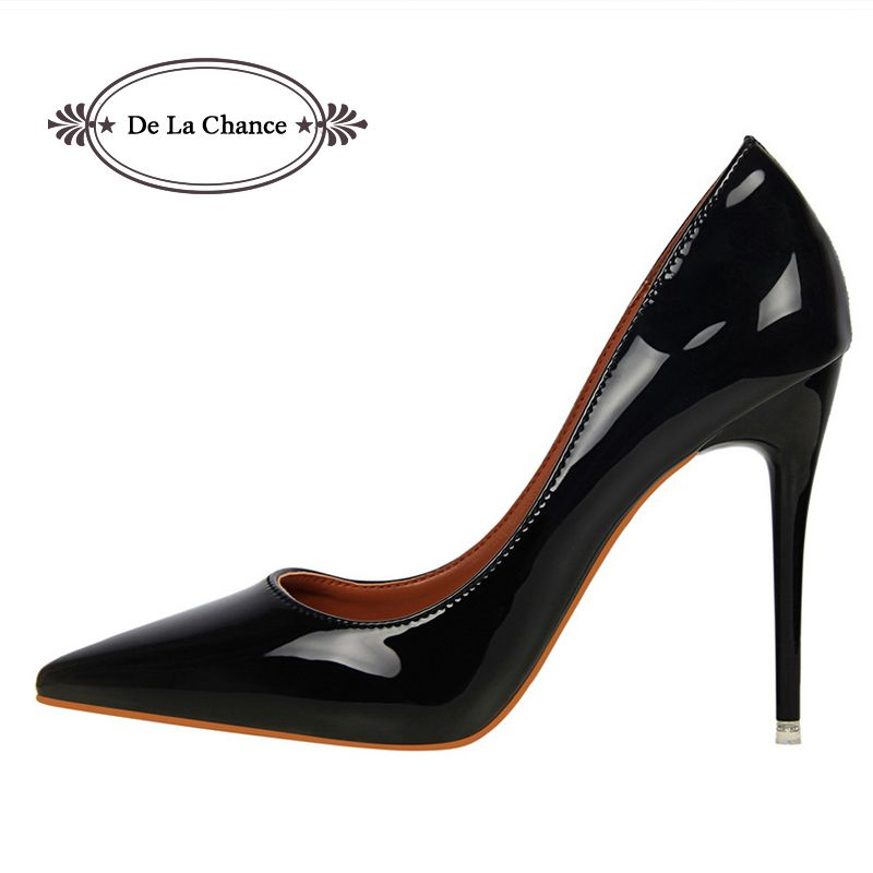 2017 Brand Shoes Woman High Heels Women Pumps Stiletto Thin Heel Women's  Shoes Pointed Toe High