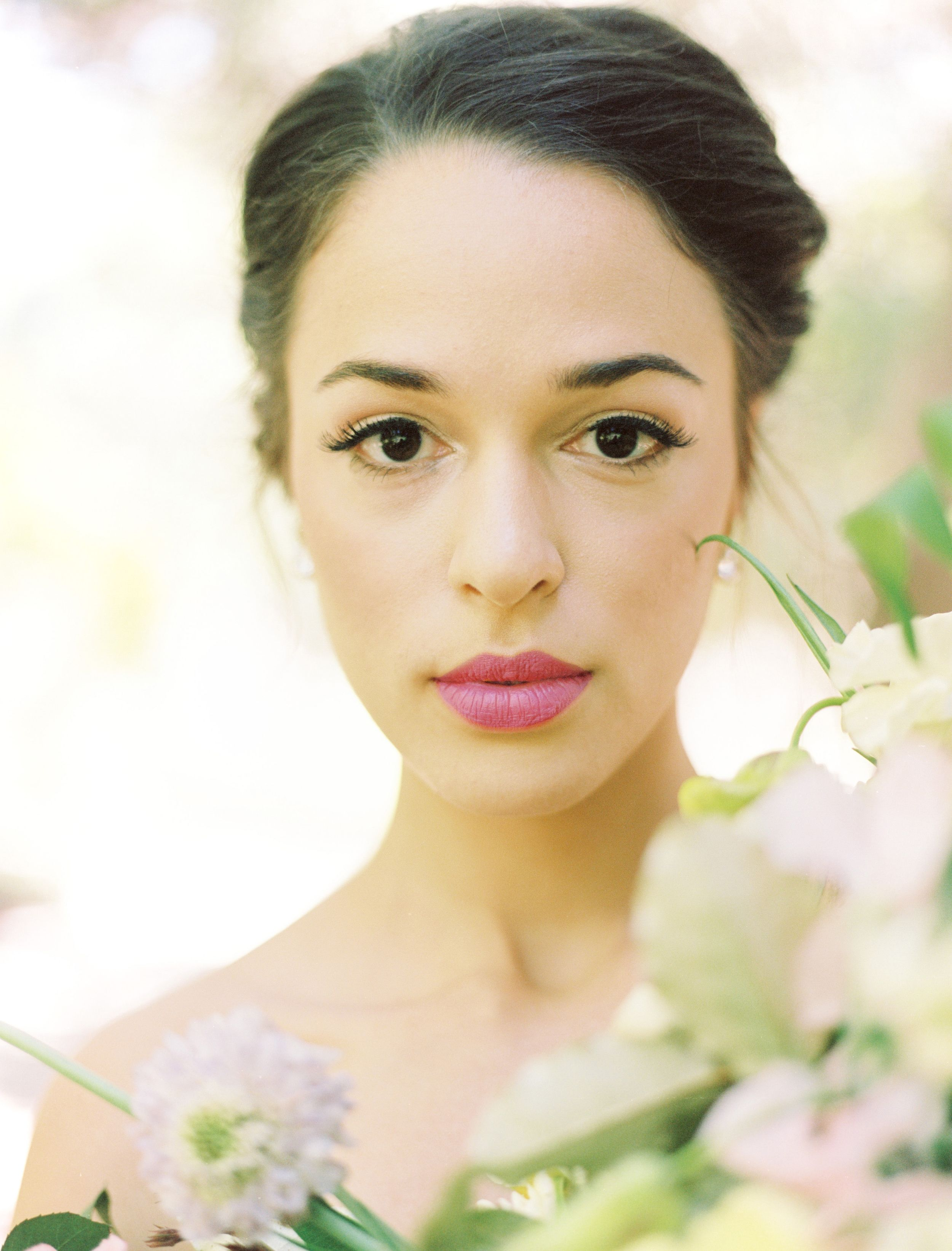 elegant texas garden wedding hair and makeup inspiration