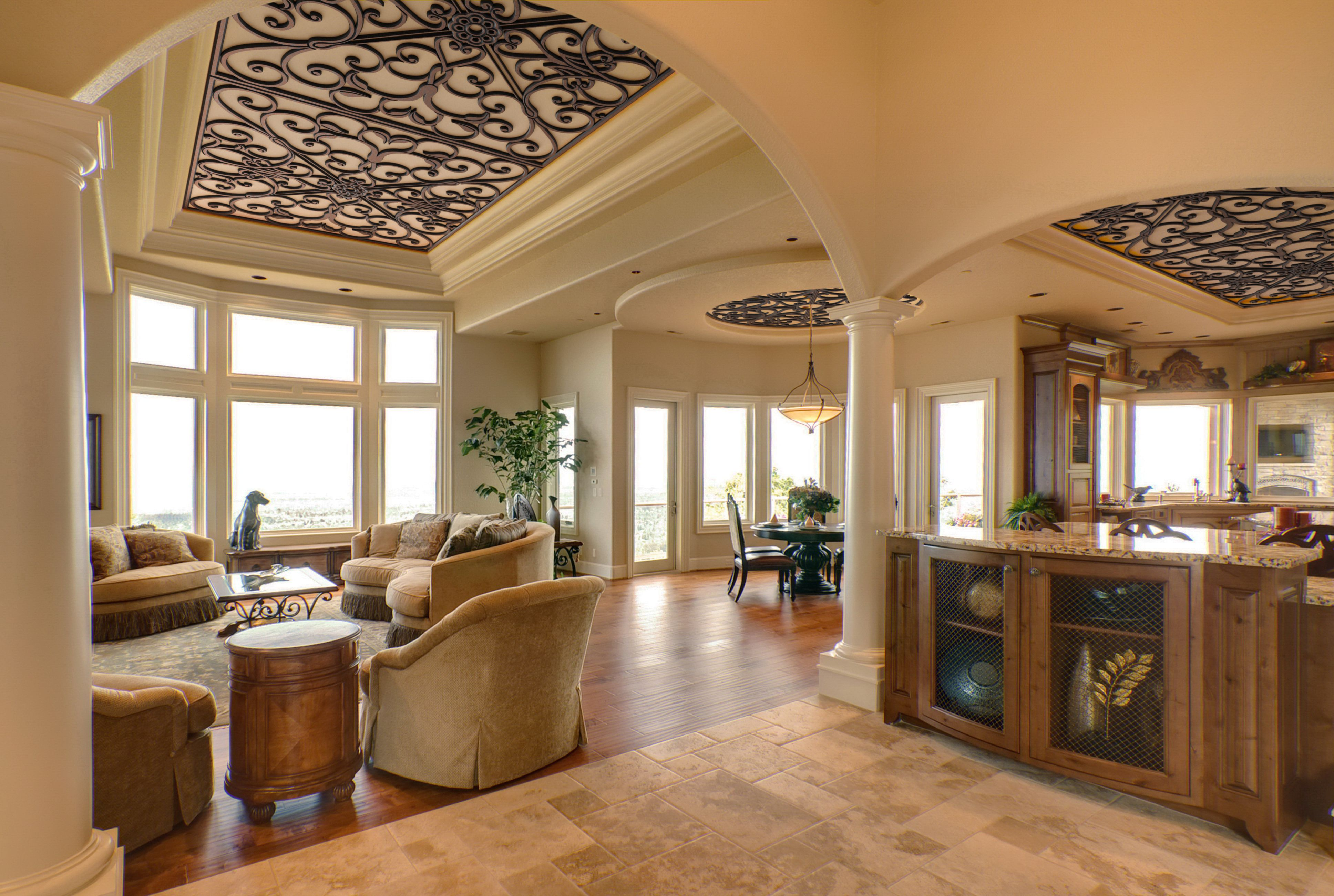 Beautiful Ceiling Treatments from our Faux Iron product