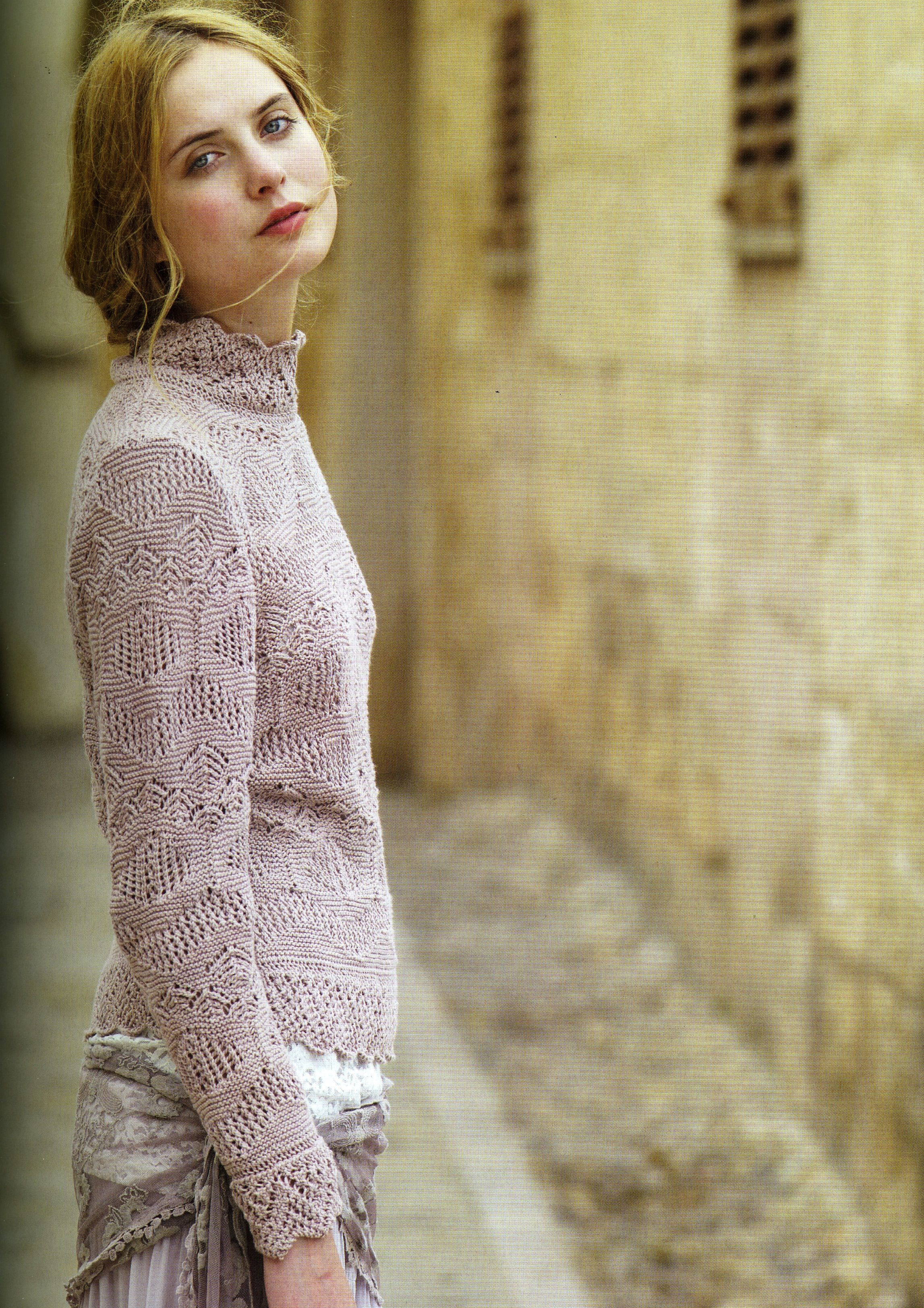 daydream sweater pattern knitted with rowan organic cotton 4ply