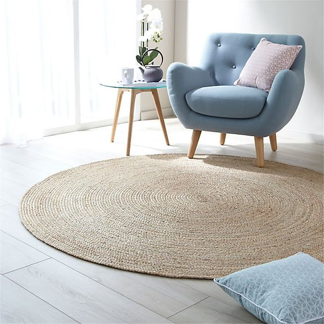 Tapis rond en jute d180cm rush text tapis tapis pour chambre et