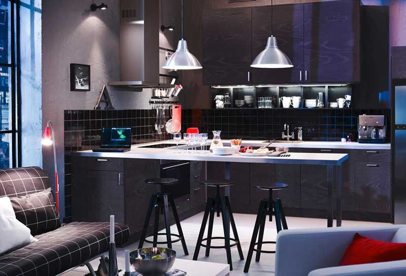 Kitchen Lighting IKEA Contemporary Design With Chandelier And Mini ...