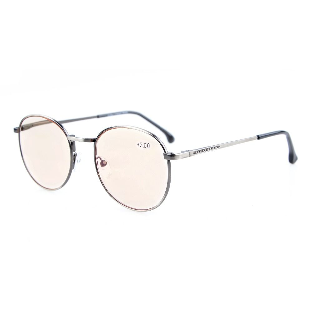 MUCHAO Reading Glasses Retro Unisex marco de Metal de la vendimia ...