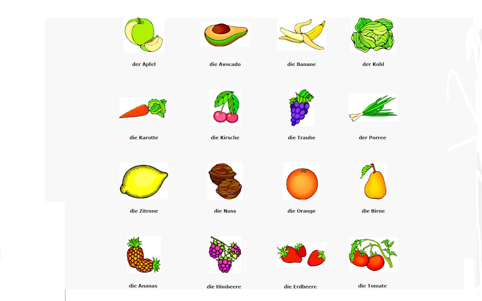 Fruit Deutsch