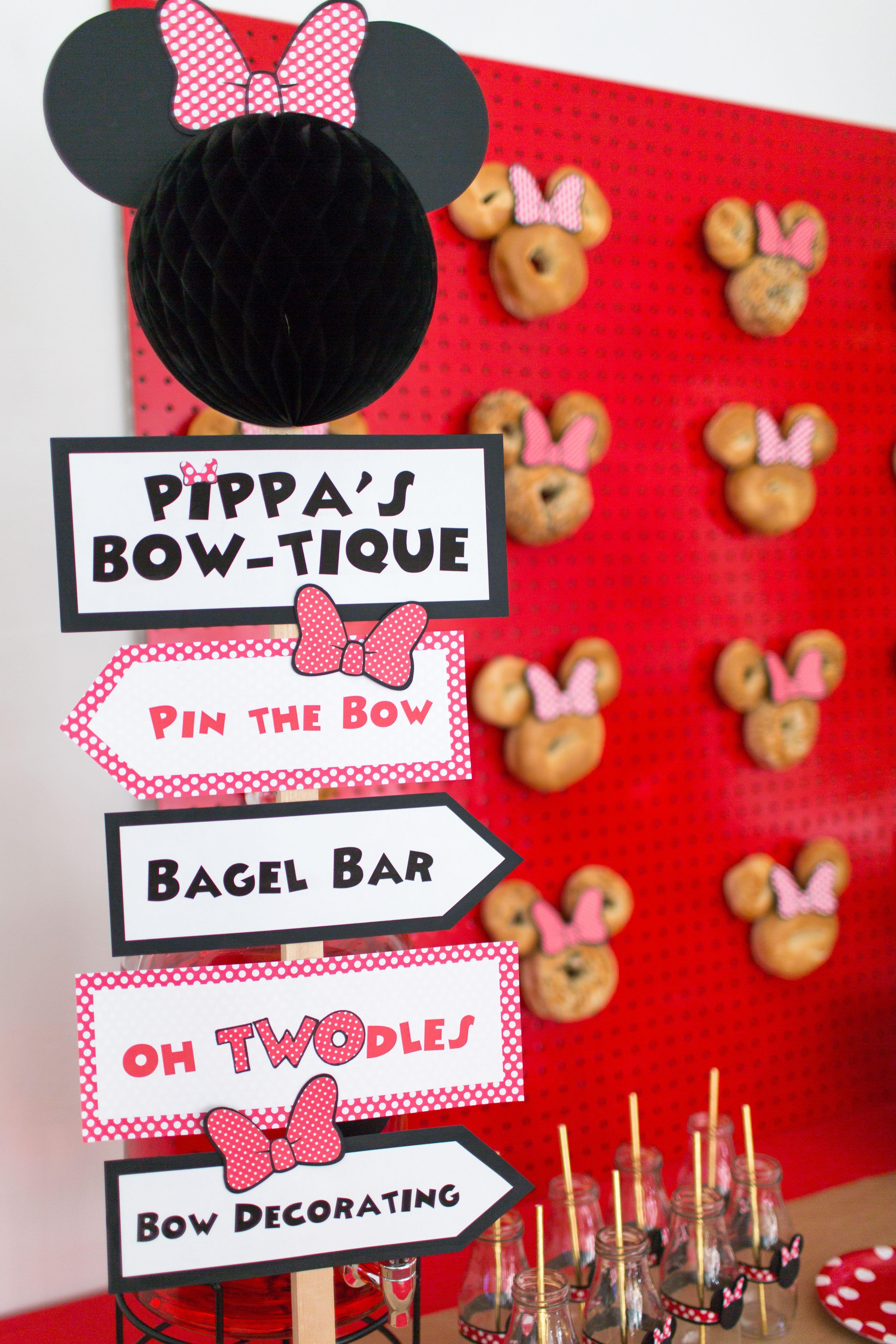 Minnie Mouse Bagel Bar Creative Mom 101 Bagel bar