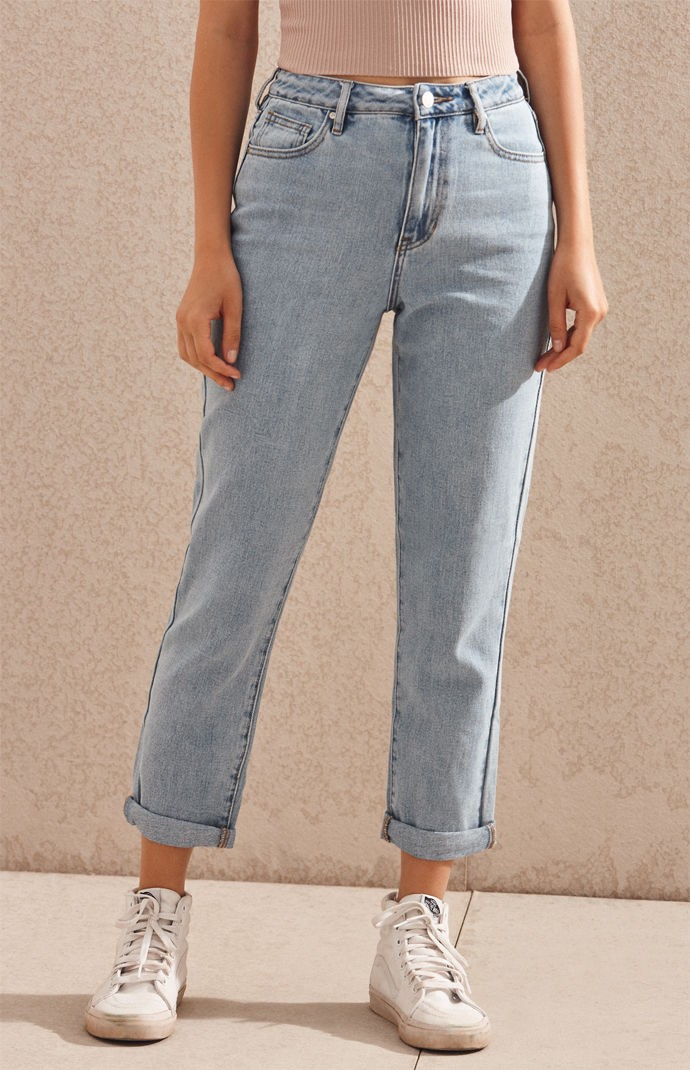 67674919dc Pacsun Megan Blue Mom Jeans - 22 in 2019 | Products | Blue mom jeans ...