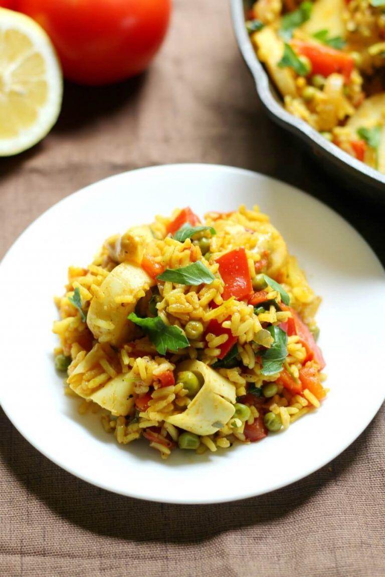 Easy Spanish Vegan Paella (Gluten-Free, Allergy-Free) #spanishmeals