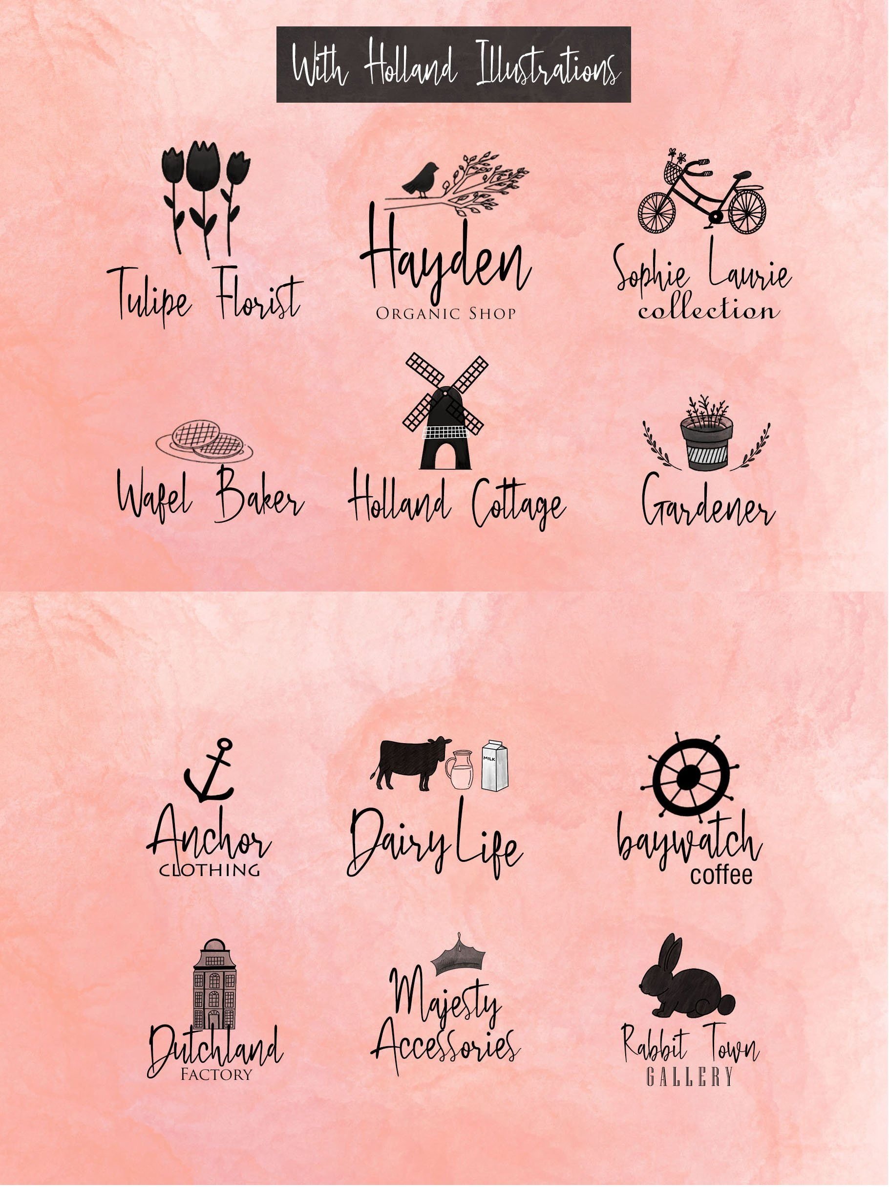 Download Bloem Garden Font-Watercolor Package , #ad, #Characters# ...