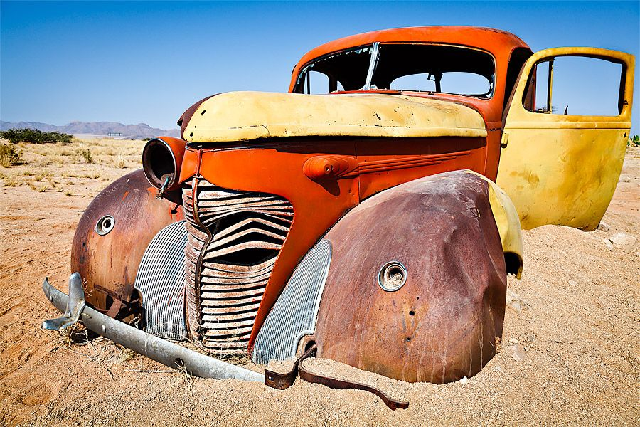 Namibia - Wrecked car in Solitaire  by Fabrizio  Fenoglio on 500px