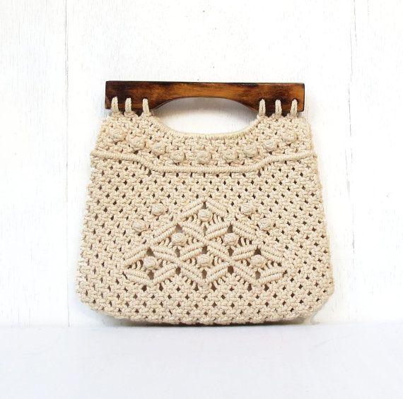 5ac14115dd7 vintage folk macrame handbag purse philippines burmuda purse with ...