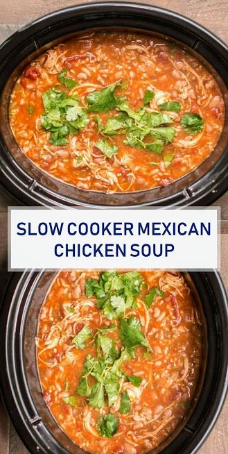 ★★★★★ 1537 Reviews: The BEST #Recipes >> #Slow Cooker Mexican #Chicken #Soup
