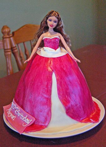 Find out how you can make a Princess Cake with a Barbie doll http