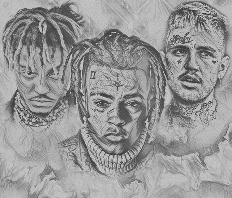 Juice Wrld Rapper Art Cartoon Drawings Drawings