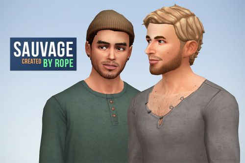 Un Sims au bout du fil. - Sauvage hairstyle for the Sims 4 I think I have a...
