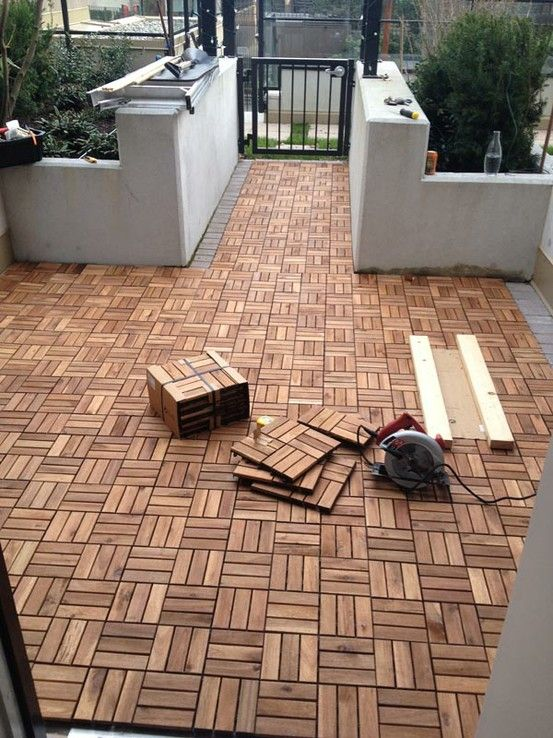 DIY Outdoor Patio Decking with Ikea Platta - $537 (click pic to read blog post on installation)