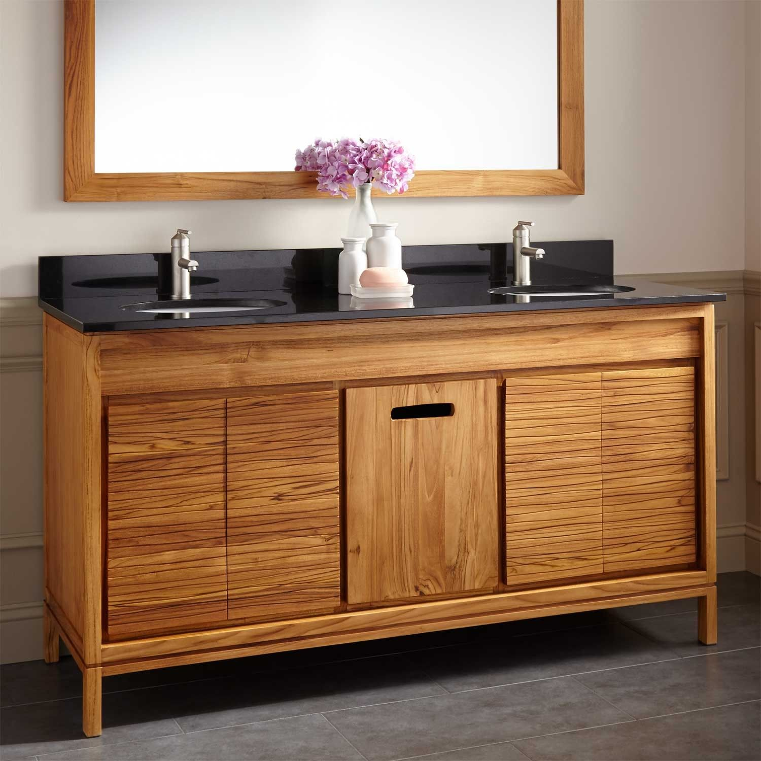 60 Becker Teak Vanity For Undermount Sink Double Sink Vanities Bathroom Vanities Bathroom Teak Vanity Teak Bathroom Vanity Teak Bathroom