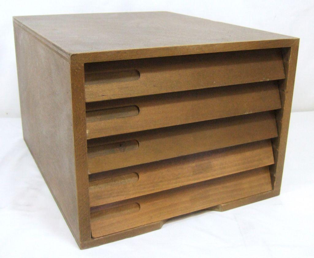 5 Drawer Wooden Desktop Filing Cabinet Aylesbury Buckinghamshire