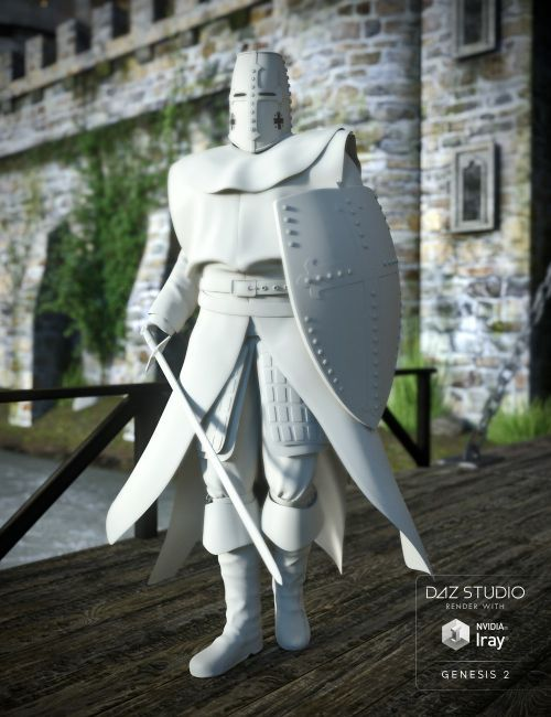 knight guard for genesis 2 male s 3d models for poser and daz