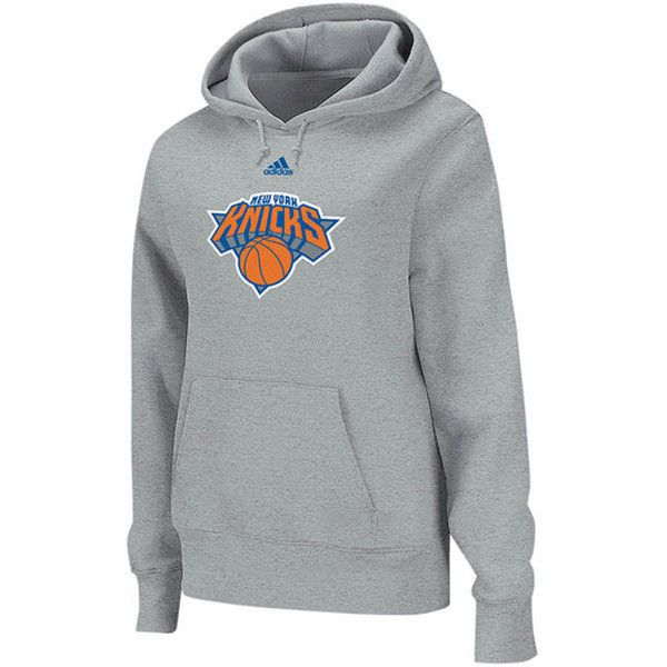 Adidas New York Knicks Women S Primary Logo Pullover Hoodie Ash 44 Liked On Polyvore Featuring Tops Hoodies Adidas Los Angeles Hoodies New York Knicks