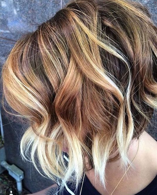 hair color ideas short hairstyles