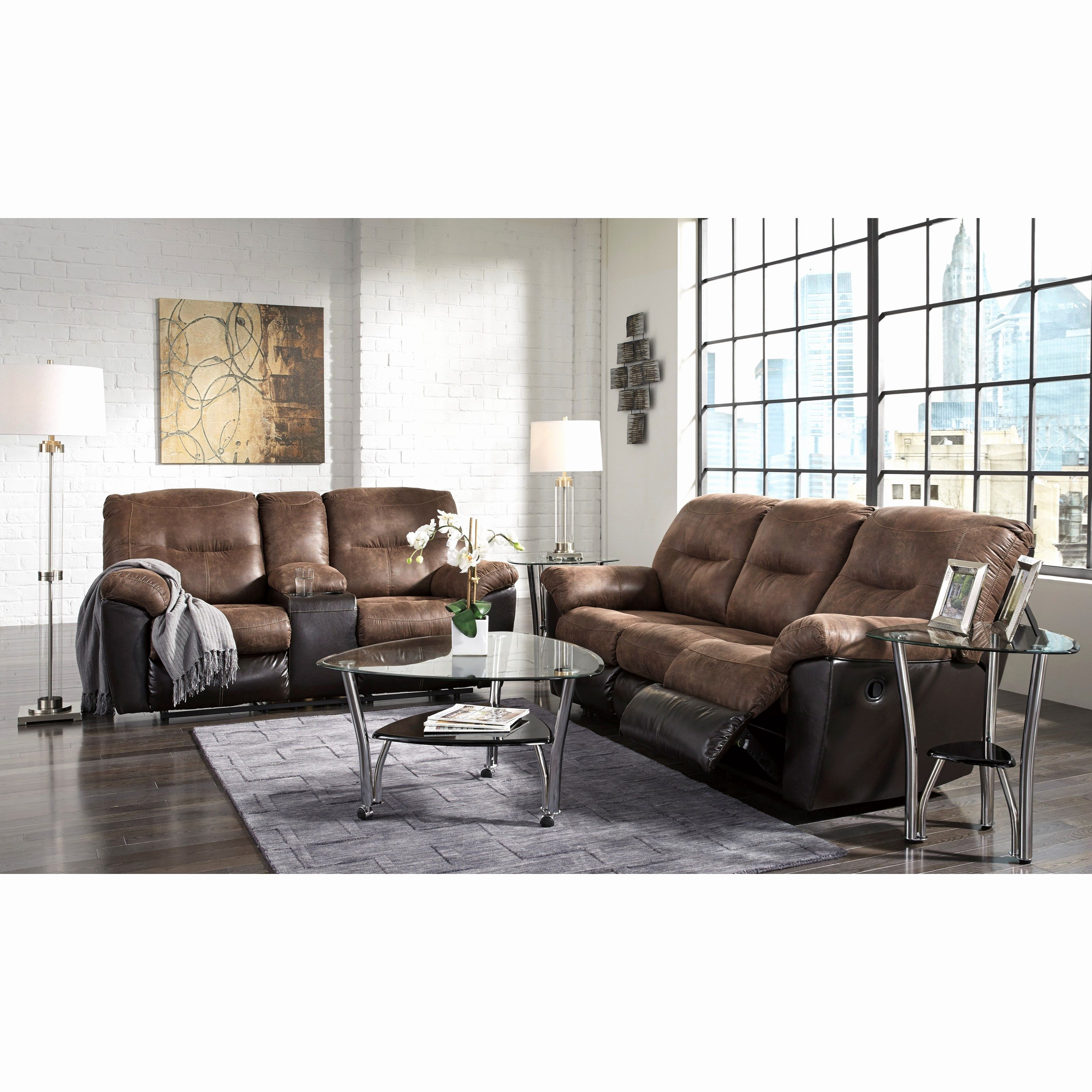 elegant microfiber reclining sofa and