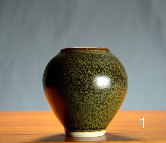 Delightful Black And Gold Flower Vase, Hand Thrown Porcelain Pottery, Ceramic,  Bathroom Storage, Ideas