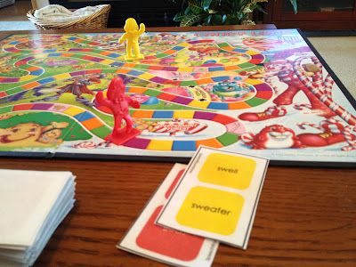 A new set of CandyLand cards. This time for LANGUAGE.