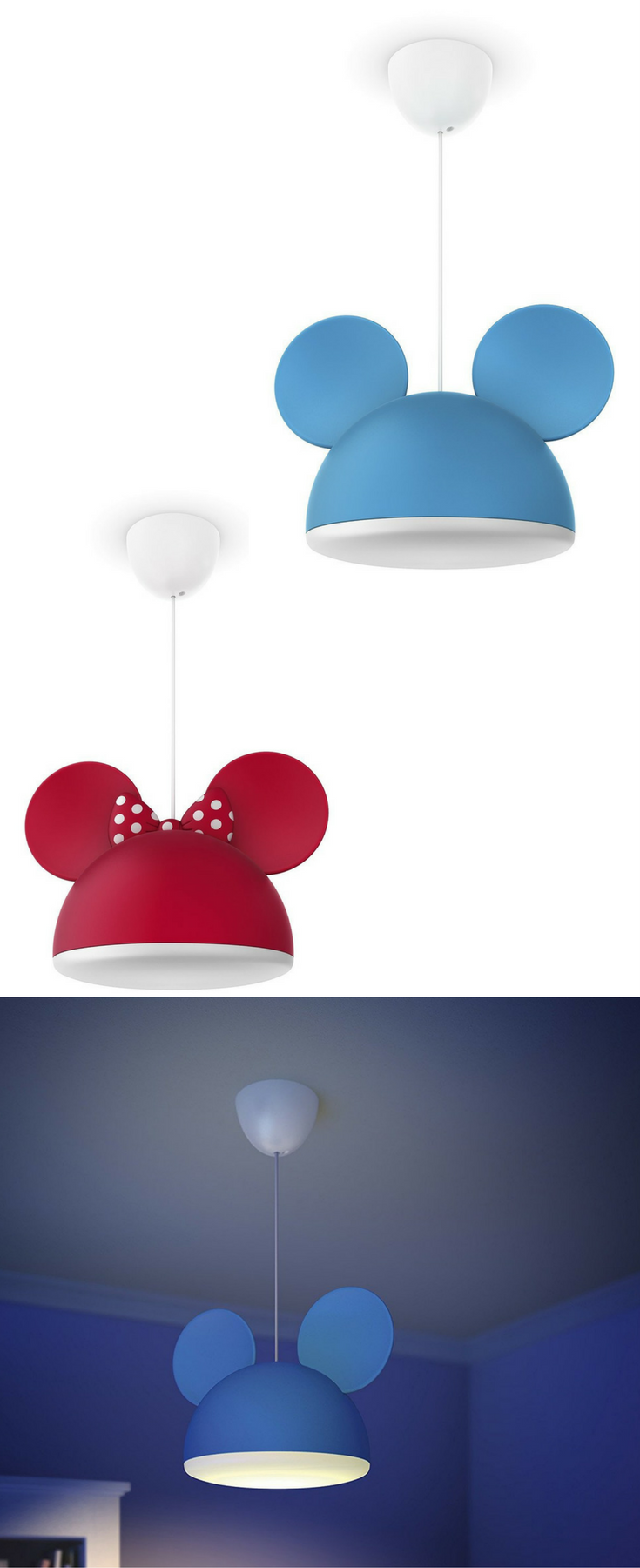 Kinderzimmerlampe Blau Philips Disney Pendelleuchte Minnie Mouse Mickey Mouse