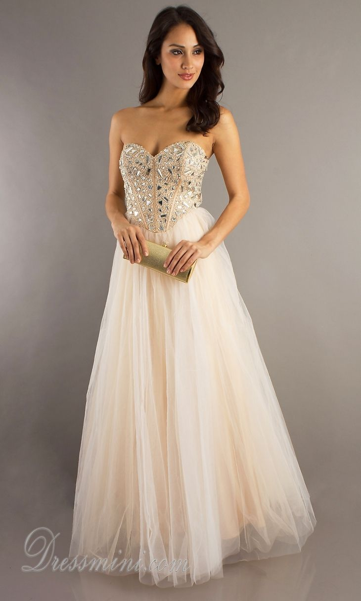Cream Colored Prom Dresses Photo Album - Reikian