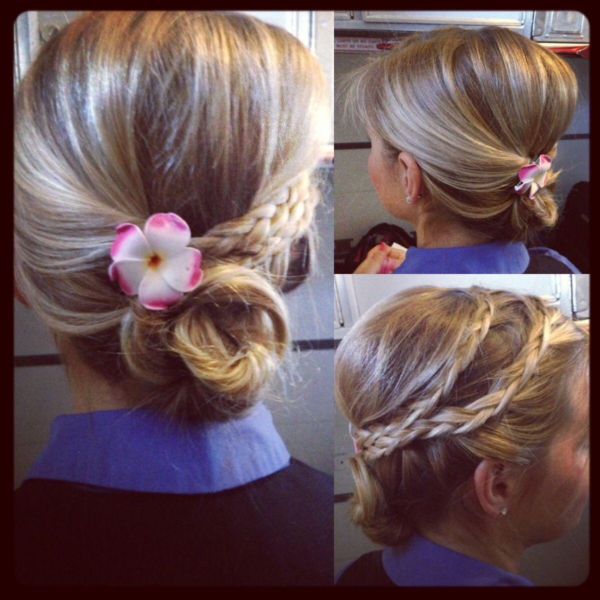 fancy #flightattendant style #updo #hair #flightattendantuniform
