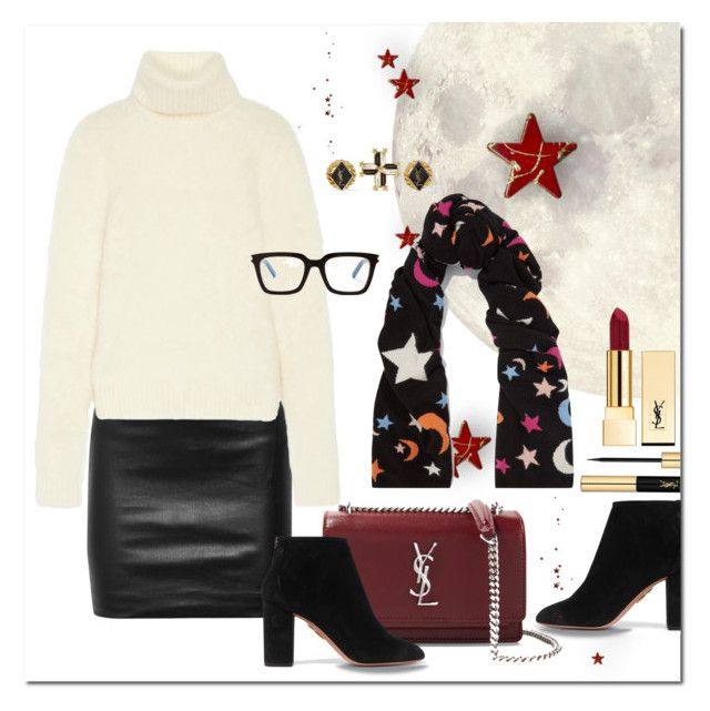 """Moons & Stars"" by jacque-reid ❤ liked on Polyvore featuring The Row, Yves Saint Laurent, Chinti and Parker and Aquazzura"
