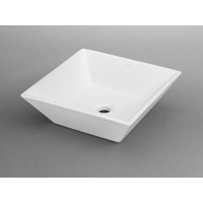 Ronbow Formation Ceramic Square Vessel Bathroom Sink Sink Finish