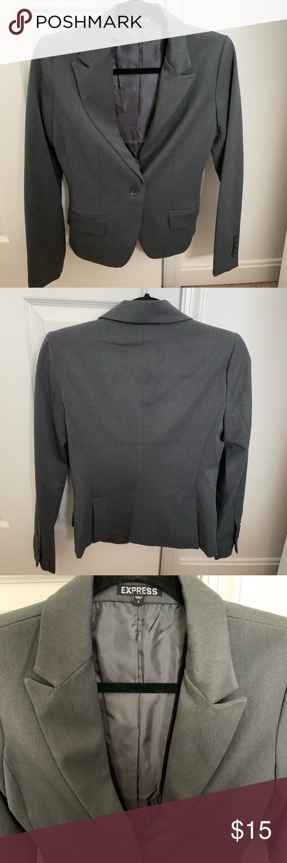 Womens Gray Blazer Like new womens blazer from express Worn once or twice Express Jackets  Coats Blazers Source by fayekopanitsano Blazers