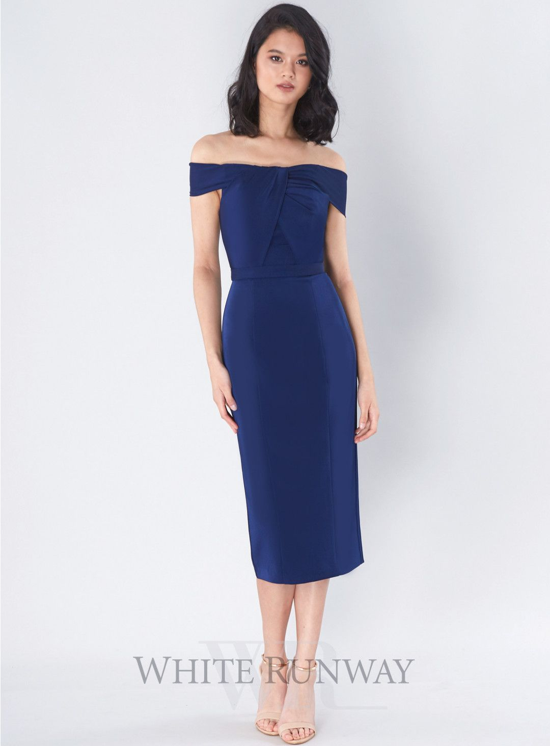 Avery cocktail dress a gorgeous midi length dress by jadore an off