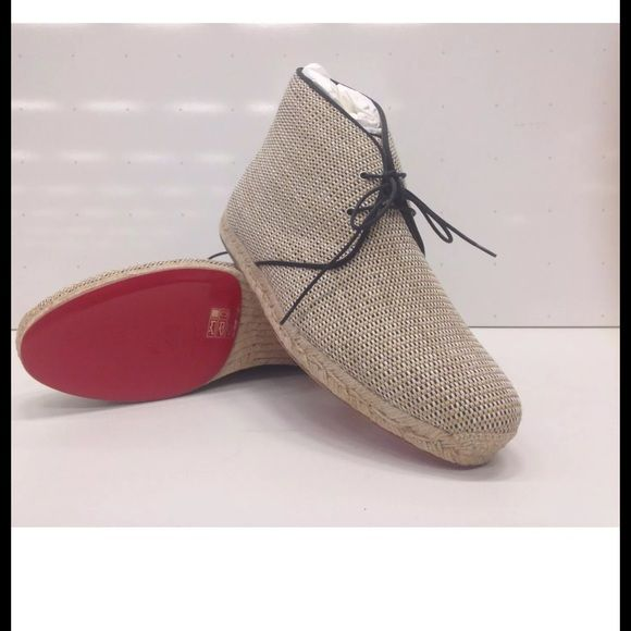 finest selection 6c3dc 66198 AUTH CHRISTIAN LOUBOUTIN CADAQUE DESERT BOOTS Christian ...