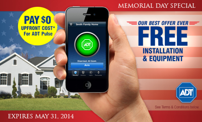 Limited Time ADT Installed No Upfront Cost Totally FREE