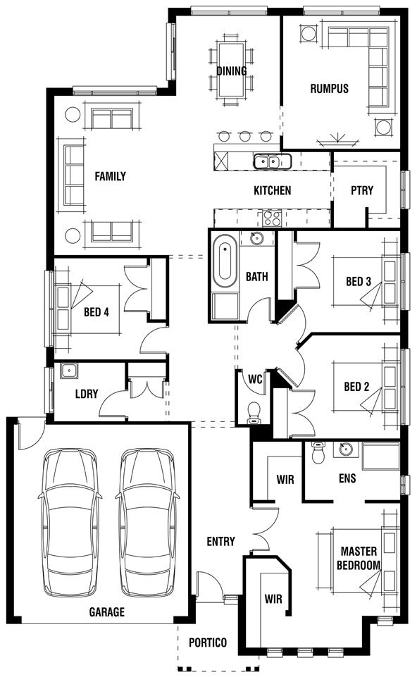 Porter Davis Homes House Design London Single Storey House Plans Floor Plans House Design