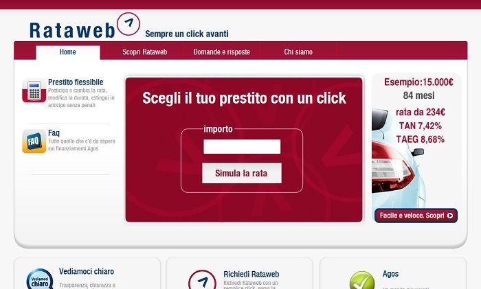 Rataweb il Prestito Personale Online di Agos Ducato
