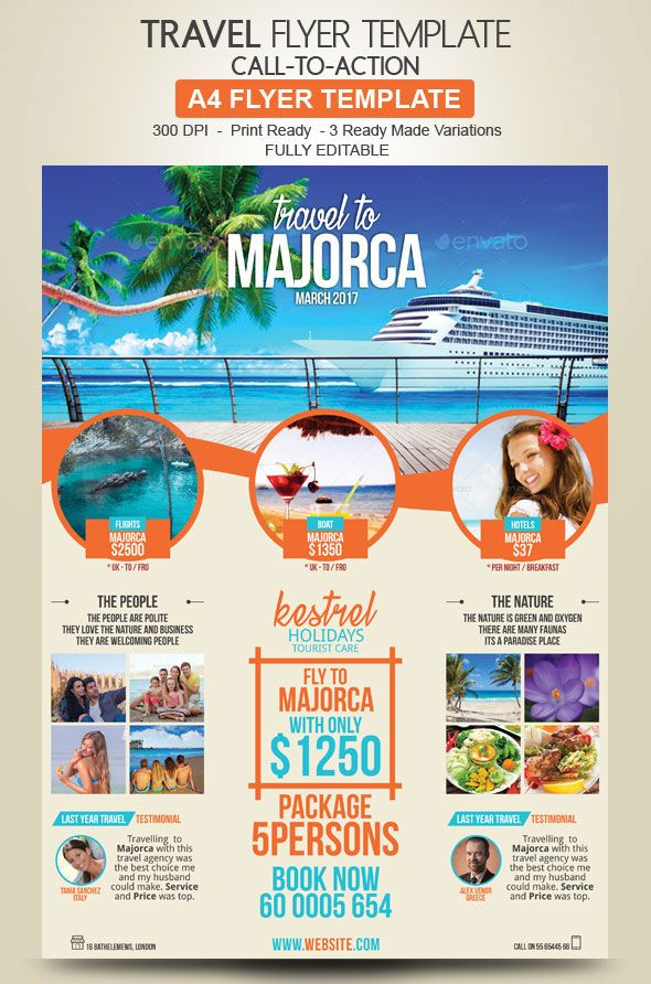 Travel Agency Flyer Design Travel And Photography Pinterest