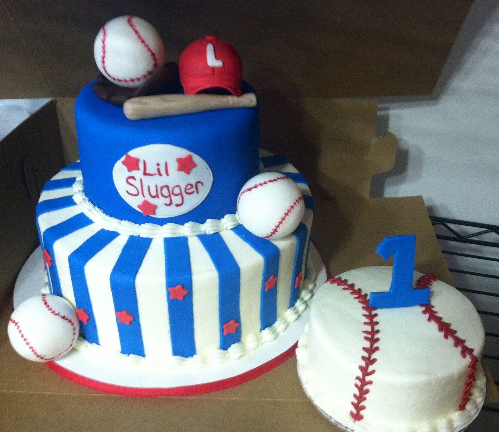 Prime Baseball Cake And Smash Cake Baseball Birthday Cakes Birthday Birthday Cards Printable Inklcafe Filternl