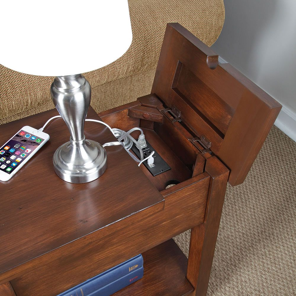 device charging end table | bedroom hacks, nightstands and tables