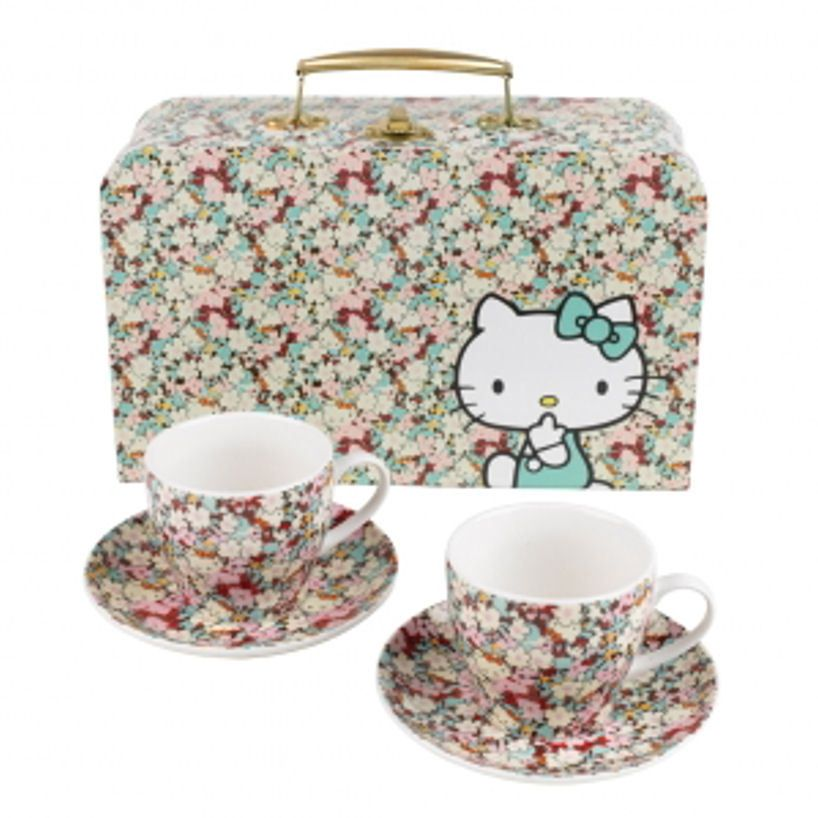 Hello kitty ceramic liberty tea cup set hello kitty