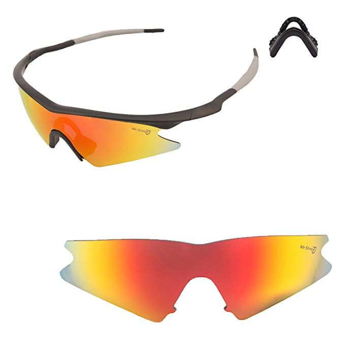9dbd8732e5a Walleva Replacement Lenses or Lenses with Black Nosepad for Oakley M Frame  Sweep - 40 Options Available Review