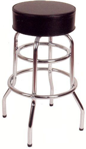 30 H Double Ring Armless Barstool By American Tables And