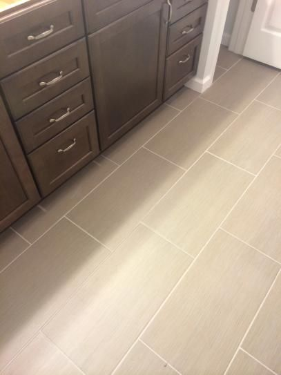 Ms international metro glacier 12 in x 24 in glazed porcelain floor and wall tile 16 sq ft for Bathroom floor tile home depot