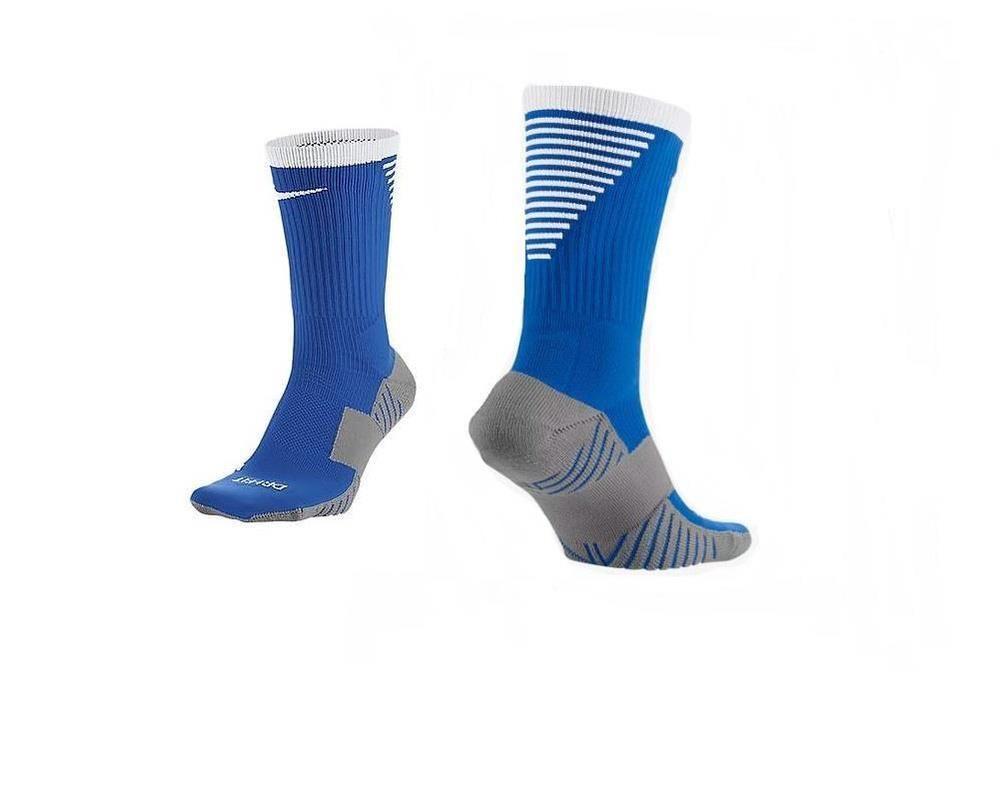 66086d8520bb8c Nike Unisex Squad Cushioned Crew Soccer Socks Blue White 8-12 10-13  SX5345-420  Nike