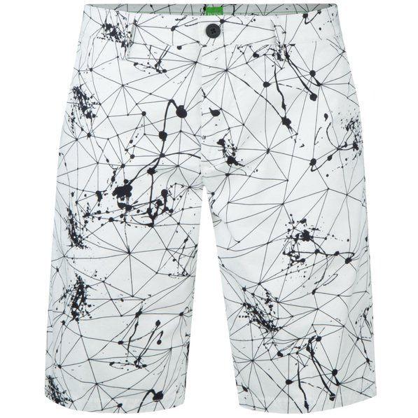 8bfe96acc42e4 BOSS Green Liem4-Print-W Traning White   Golf Shorts   TRENDYGOLFUSA.COM