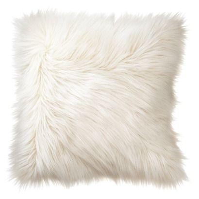 Fluffy Faux Fur Plush Throw Pillow
